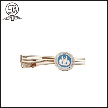 Silver University mens tie bar
