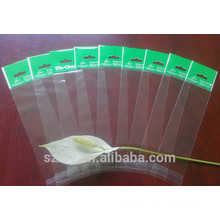 Clear OPP plastic bag with header and punch hanging hole