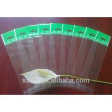 Прозрачный полиэтиленовый пакет OPP с отверстием для подвешивания