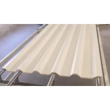 anti-corrosion techo plastic PVC hollow roofing sheet