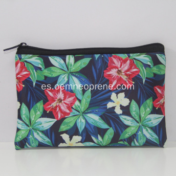 Pure Flowers Zippered Neoprene Lunch Tote Bag