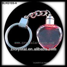 Llavero de cristal en blanco del corazón para el grabado láser 3d BLKG103-A
