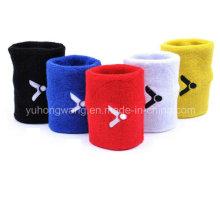 Venta al por mayor de algodón Terry Sports Wristband / Headband