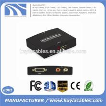 1080P VGA to HDMI HD VGA R/L Audio and Video Converter to HDMI compliant HDCP