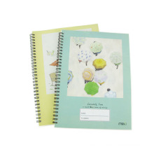 Tamanho 260 * 190mm PP Cover Spiral Notebook Hardcover Diary Note Pad Office Memo Book