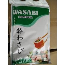 Especiarias em pó de wasabi japonês