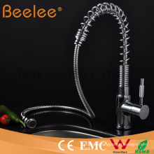 Kitchen Faucet Deck Mount Hot and Cold Water Spring Pull out Kitchen Sink Faucet