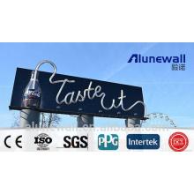 Panneau directionnel de panneau composite en aluminium noir brillant de la largeur 4M 2M / impression de publicité