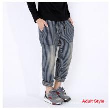 Джинсовые брюки с полосками для всей семьи