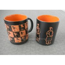 11oz Spray Color Mug with Laser Logo, Ceramic Souvenirs and Present