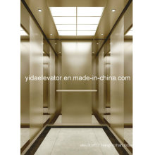Gearless Passenger Lift with Champagne Quartz Blasted Stainless Steel