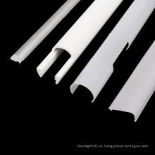 Pantalla de plástico personalizada especializada para luz lineal LED