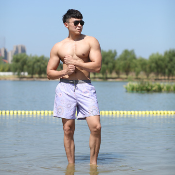 160GSM Full Elastic Beach Short Man's Swimshort