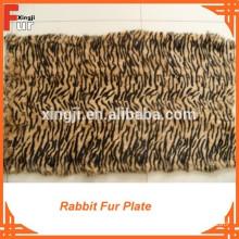 Tiger Strip Printed & dyed rabbit fur plate