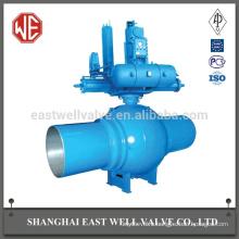 Electro-hydraulic linkage fully welded ball valve