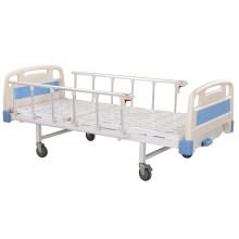 Cama de hospital manual móvel