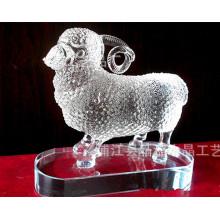Animal de cristal colorido do ofício, peso de papel animal de vidro para o presente