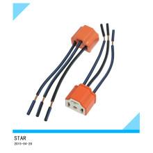 9003 soquetes de chicote de fios cerâmicos do farol da fiação do fio para o farol do carro