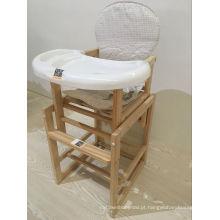 Cadeira de jantar de madeira de madeira da cadeira alta da forma