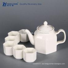 Pure White Einzigartiges Design Fine Porzellan Chinesisch Tee Pot Set, Modern Fine China Tea Set