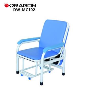 DW-MC102 Patient luxueux de pli d'hôpital accompagnent la chaise de lit