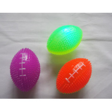 Flashing Two-tone Spiky Football 3 inches