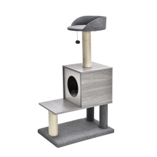 Luxury Cat Tree Multilayer Board Cat Tree House For Hanging Toys Sisal Material Scratch Resistant