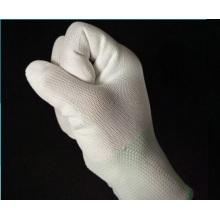 Перчатки трикотажные PU пальцевые с покрытием из углеродного волокна 13 калибра