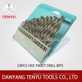 19 piece metric high speed steel drill bits