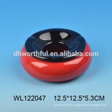 Cenicero de cerámica barato en forma redonda