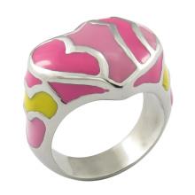 Anel de esmalte colorido jóias anel de mulheres