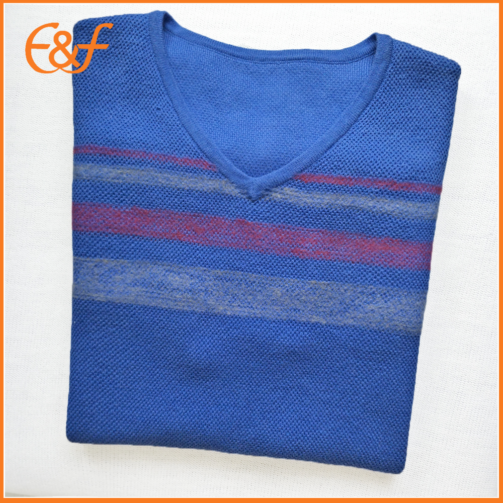Blue sweater vest for men