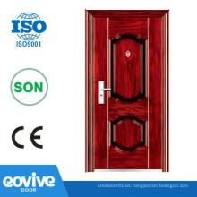 Puerta de hierro de china puertas seguridad de acero de importación