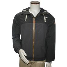 Zipper Through Nylon Short Plain Flight Men Bomber Hood Jacket