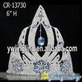 "6"" Light Blue Rhinestone Frozen Crown Tiara"
