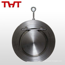 stainless steel wafer disc 2 inline full flow check valve cf8m