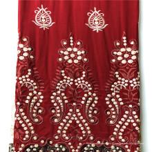 Planície personalizada do cetim de rayon tingida com vestido do bordado