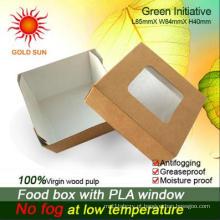 Embalagem da caixa de papel do fast food com janela (K85)