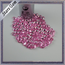 Forme a pedra pequena da zircônia cúbica do rosa do tamanho para o ajuste da jóia