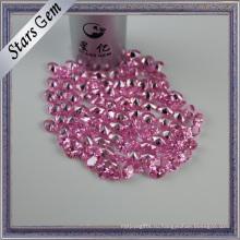 Мода небольшой размер розовый кубический цирконий камень для ювелирных изделий Установка