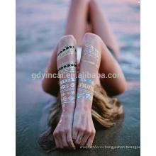 2017 Watertransfer Мода Ювелирные Изделия Золото Серебро Фольги Наклейки Металлический Корпус