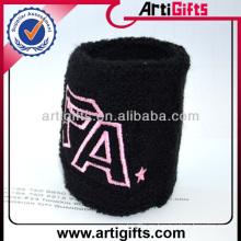 Barato personalizado sweatbands logo para el deporte