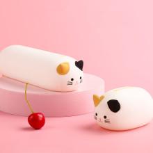 Pochettes à glissière en forme d'animal en silicone imperméable personnalisé