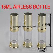 Bouteille d'emballage en or sans alcool de qualité supérieure de 15 ml / bouteille cosmétique