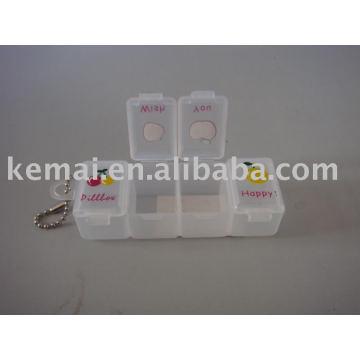 caixa de medicina de plástico