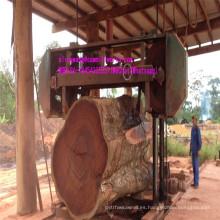 La banda de madera horizontal grande vio la máquina para el trabajo de madera dura