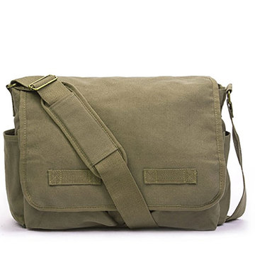 Custom Canvas Messenger Bag för män