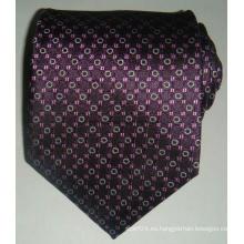 Jacquard tejido tejido de seda de los hombres corbata personalizada