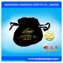 Modische Sportive Metallmünze mit Gold Plate Logo