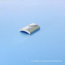 40sh imanes de neodimio de segmento de arco de alta calidad con recubrimiento de Zn